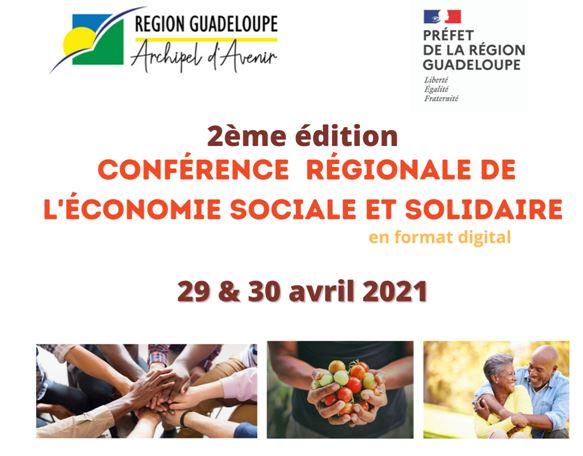 Invitation à la 2ème édition de la Conférence régionale de l'économie sociale et solidaire de Guadeloupe