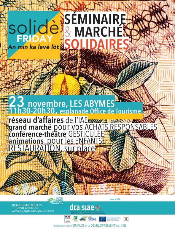 1er SOLIDÈ FRIDAY - Marché et Séminaire Solidaire