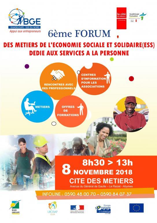 8 novembre 2018 Forum des métiers de l'ESS dédié aux Services A la Personne
