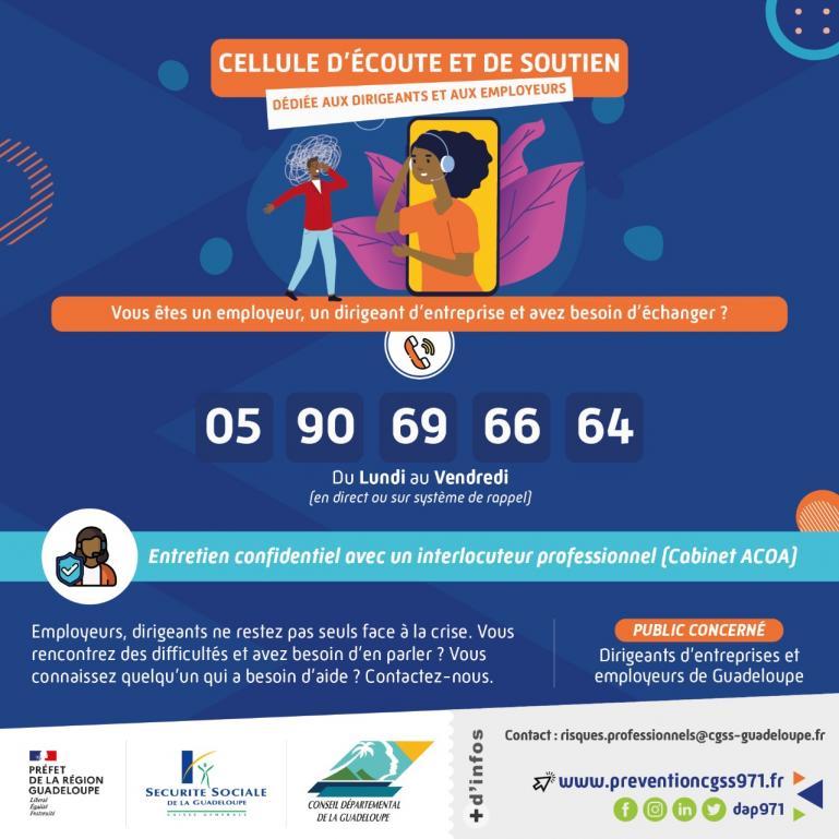 La préfecture de Guadeloupe met en place une cellule d'écoute des dirigeants - employeurs